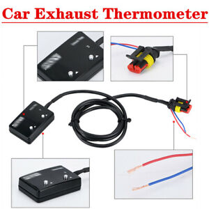 DC 12V LED Digital Car Exhaust Thermometer With Sensor Pyrometer
