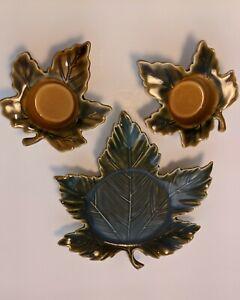 Yankee Candle Grape Leaf Candle Holders, Set Of 3, Harvest, Autumn Decor