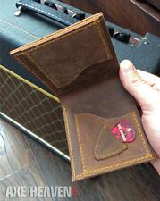 Men's Leather Wallet - Bi-fold - Blonde Single Cut Electric Guitar