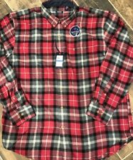 Izod Mens Stratton Flannel Long Sleeve Button Shirt Plaid Size Xl New Biking Red