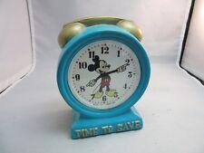 vtg Enesco ceramic Time To Save,Mickey Mouse Walt Disney bank.Japan.Alarm Clock