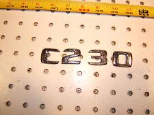 Mercedes W202 C230 sedan rear deck lid C230 PLASTIC OEM 1 Emblem, C230,#1