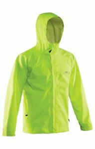 NEW Hi-Vis Yellow Grundens Weather Watch Hooded Sport Fishing Rain Jacket GAGE