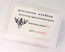 #12 Standard 1000 Loose Tattoo Needles - Extra Long Taper