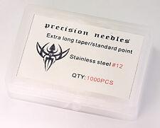 #12 Standard 1000 Loose Tattoo Needles - Extra Long Taper