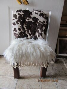 Revamped Child's Western Style Wooly Chair