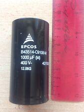 1000UF 400V Snap in alluminio Condensatore B43514-C9108M Mauf. EPCOS £ 26.50 Z1183