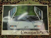 Aoshima Lamborghini Countach LP-500S Super White 1/20 Model Kit #15025