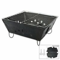 Foldable Folding BBQ Barbecue Flat Pack Portable Camping Outdoor Garden Grill