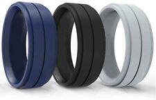 Rexos Tactical Silicone Wedding Ring for Men - 3 Pack - BOLD / IMPRESSIVE