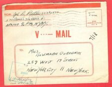 USA WWII Army V MAIL Letter Sheet / / Aerogramme used Censor to NY 1944