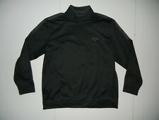 CALLAWAY Black/Gray Warm GOLF PULLOVER Course Gear Sweatshirt Sz Men's XL