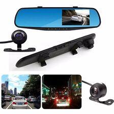 "4.3""Full HD 1080P Waterproof Dual Lens Car DVR Rear View Mirror Cam Video Camera"