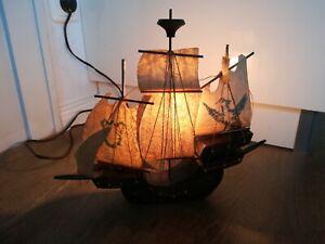 Vintage Segelschiff Lampe Tischlampe Schiff Piraten Lampe Nachttisch Büro Retro