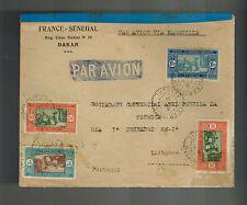 1931 Dakar Senegal Airmail Cover to Lisbon Portugal