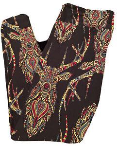 LuLaRoe TC Leggings - Gorgeous Multicolored Mosaic Deer Print