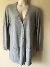 Dg2 Diane Gilman Long Sleeve Gray Sweater Cardigan Jacket Size XL