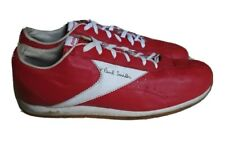 VINTAGE PAUL SMITH REEBOK TRAINERS RED CALF LEATHER 90's UK 10 EU 44.5 RARE