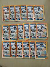 Frank Thomas 1990 Topps Baseball Rookie #414. Lot of 18 cards.