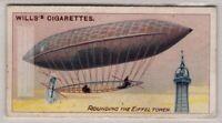 1901 Santos Dumont Flies Around The Eiffel Tower 100+ Y/O  Trade Ad Card