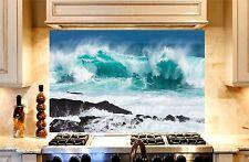 Wild Sea Printed Kitchen TOUGHENED Glass Cooker Splashback Lounge Photo 1200x600