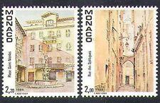 Monaco 1989 OLD MONACO/bâtiments/architecture/histoire/Heritage 2 V Set (n37841)