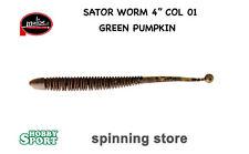 "SATOR WORM 4"" MOLIX COL 01 GREEN PUMPKIN"