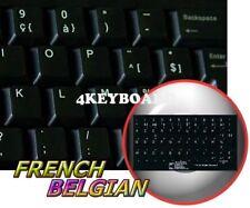 BELGIAN FRENCH NON-TRANSPARENT KEYBOARD STICKER BLACK