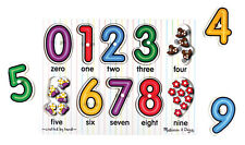 Melissa & Doug See-Inside Numbers Peg Puzzle - 10 pieces (New) 3273
