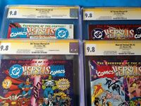 DC versus Marvel #1, 2, 3, 4 set - all CGC SS 9.8 NM/MT - all Signed by Ron Marz