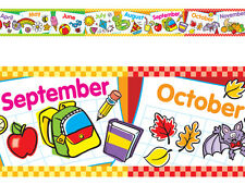 Months Of The Year Bolder School Classroom Display Border