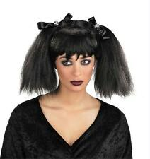 GOTHIC PUNK CLUB BLACK DEAD PIGTAILS WIG COSTUME ACCESSORY NEW
