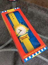 Rare Tatiri Crocodile Creek Whimsy Wood Watch Wall/Desk Alarm Clock NIB HTF NICE