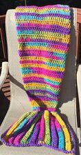 YOHCreations Crochet Mermaid Tail Blanket/Afghan - Child Size