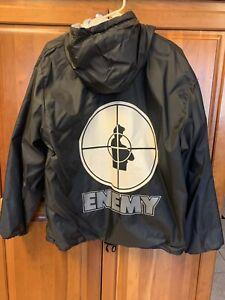 Rare Vintage Public Enemy Hoodie Jacket Windbreaker XL