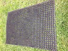 Rubber GRASS MAT playground golfcourse mats horse Free pegs 23mm