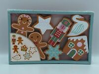 Wooden Holiday Christmas Figurines - Set of 7 Brand New