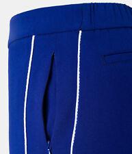 Laurel weite Hose in blau mit Galonssteifen in weiß, Größe 46