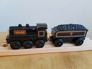 Wooden Magnetic DONALD WITH TENDER Thomas the tank engine BRIO comp