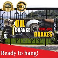 Oil Change Tune Up Brakes Banner Vinyl / Mesh Banner Sign Auto Repair Service
