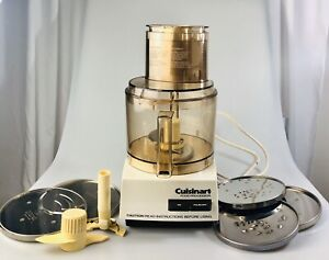 Vintage Cuisinart DLC-8F Food Processor w/Accessories Full Size Bowl Japan 1982
