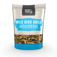 Wild Bird Feed Mealworm - 1kg (c 2.2lb) Bag of Dried Meal Worm - kingfisher