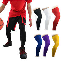 Sports Knee Pad Crashproof Antislip Basketball Leg Long Sleeve Protector Gear