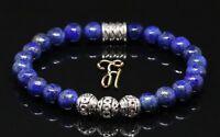 Lapislazuli blau Armband Bracelet Perlenarmband Silber Beads 8mm