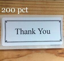 200 Thank You  SEALS LABELS STICKERS 5-STAR ENVELOPE/PACKAGE Positive Energy