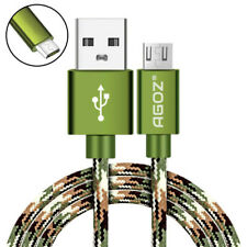 Agoz Camo Braided FAST Charger USB Data Sync Micro Cable Cord for Smartphones