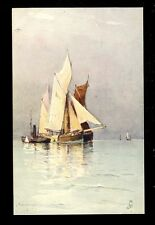 Seascape Tuck Aquarette #6268 artist George Ricard-Cordingley PPC ref3