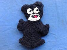 New listing Crochet Pot Holder , Feelic'S The Cat