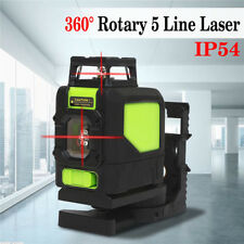 360° Rotary 5 Line Red Laser Self Leveling Vertical Horizontal Level Measure Kit