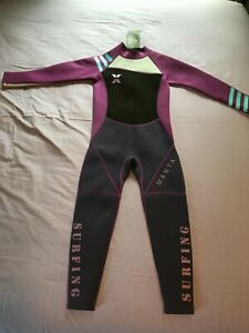 Dive & Sail Youth Size XL(6-8) Back Zip Wetsuit Purple/Black/Gray, New With Tags